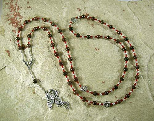 Lilith Prayer Bead Necklace in Garnet: Sumerian/Babylonian Goddess of Fertility and Free - Prayer Goddess Beads