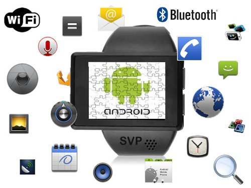 662cee957791 Image Unavailable. Image not available for. Color  SVP® Smartwatch Android  2.2 Phone Bluetooth GPS - Z1 Black