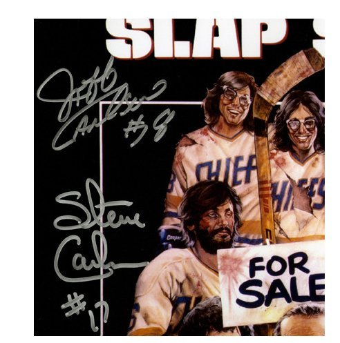 Hanson Brothers Triple Signed Slapshot 11x17 Movie Poster