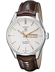TAG Heuer Mens WAR201D.FC6291 Carrera Analog Display Analog Quartz Brown Watch