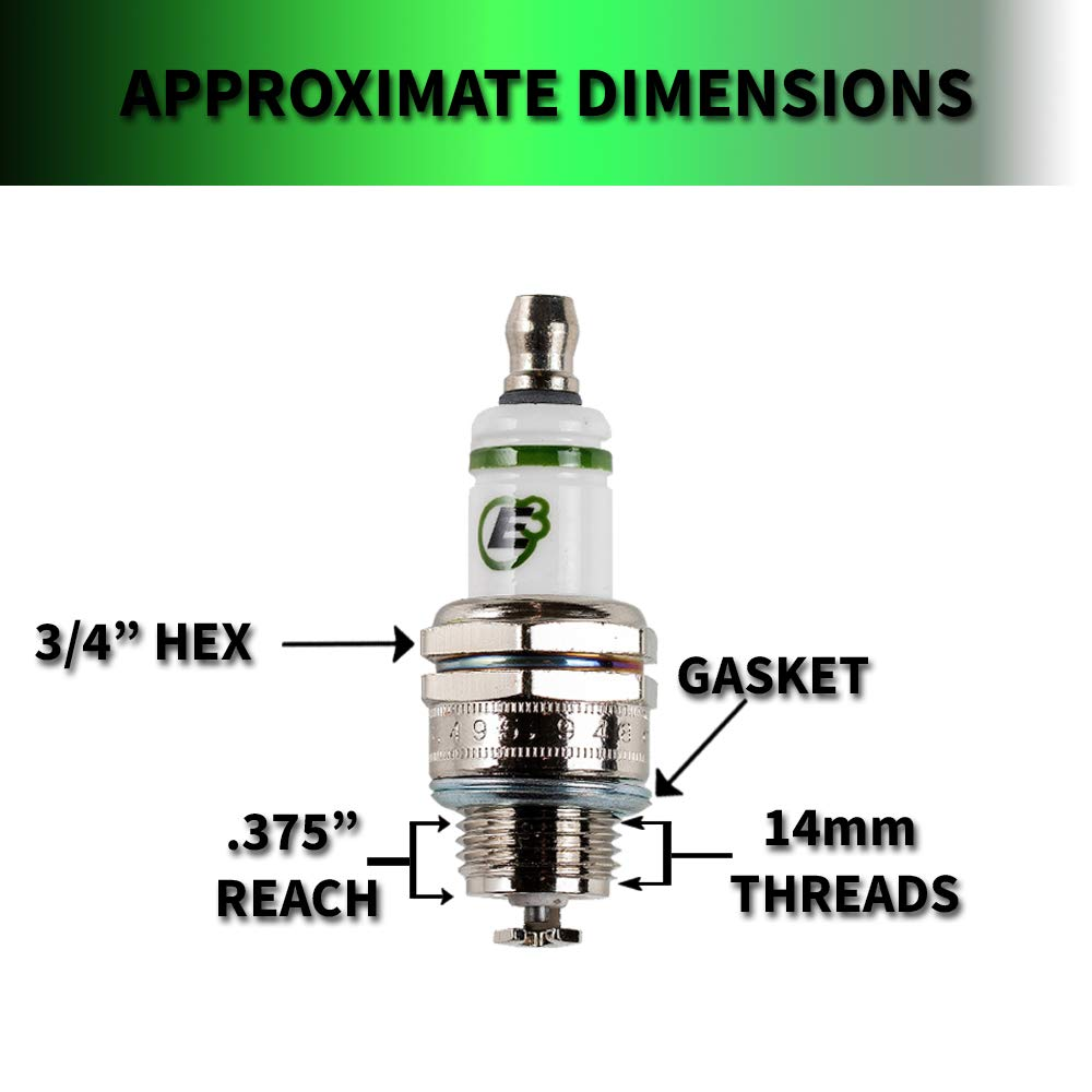 Lawn and Garden Spark Plug E3 Spark Plugs E3.12 Small Engine 1-Pack