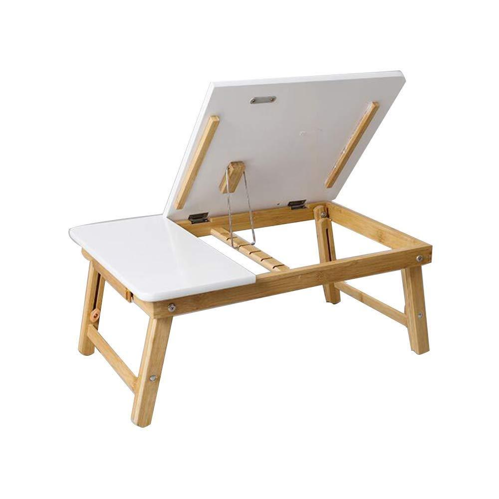 TINGTING ダイニング テーブル コヒーテーブル コーヒーテーブ タケラップトップテーブルLapdeskテーブルベッドトレイデスクトップ傾斜5角度収納収納付き (色 : 白, サイズ さいず : 53*34*22*30cm) 53*34*22*30cm 白 B07SBSHDHX