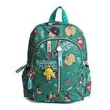 Dorapocket Children Harajuku Doll Cartoon Backpack Student Casual Travel Bag,Green S