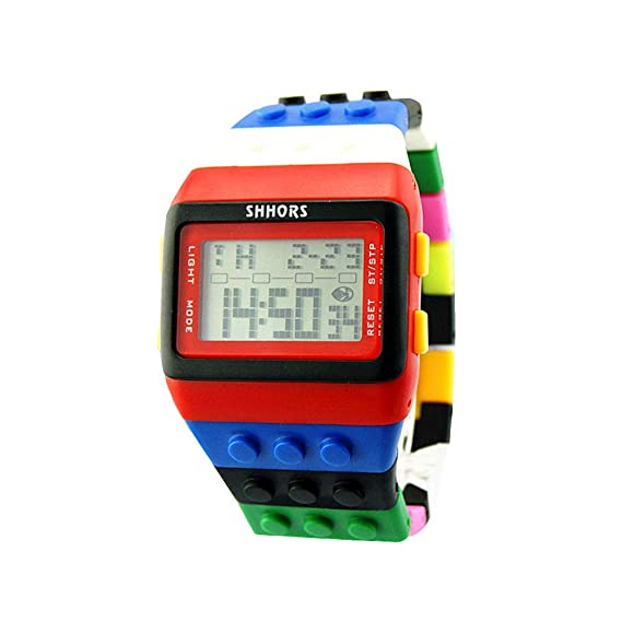 Bestow LED Reloj Electršnico Rainbow Unisex Colorido Reloj Digital Reloj Deportivo ewelry Relojes(vistosoA1): Amazon.es: Ropa y accesorios