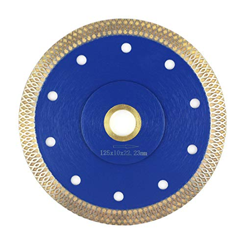 5 Inch Tile Blade,Stylish Y&I Porcelain Diamond Blade Super Thin Ceramic Tile Saw for Grinder Dry or Wet Tile Cutter Disc With Adapter 7/8