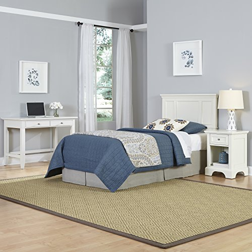 Home Styles 5530-4025 Naples Twin Headboard, Night Stand and Student Desk, White by Home Styles (Image #1)