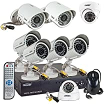 Sumas SM-DVF812 8 Channel Network DVR Surveillance Kit w/ 8 IR Bullet Cameras