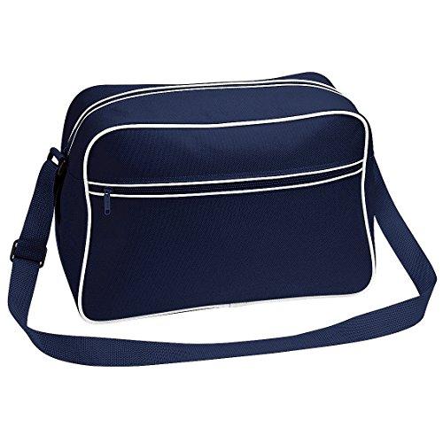 Bagbase Retro Adjustable Shoulder Bag (18 Liters) (One Size) (French Navy/White)