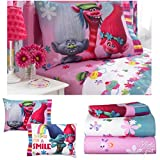 Dreamworks Trolls Girls Twin Bedding Sheet Set