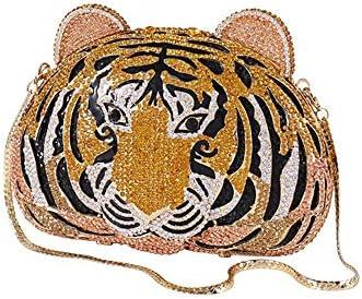 ハンドバッグ - 三次元の手を散りばめたタイガーハイグレード装飾イブニングバッグ、パーティーや他のハンドバッグショルダーバッグ、18 * 7 * 13.5センチメートルを両面 よくできた