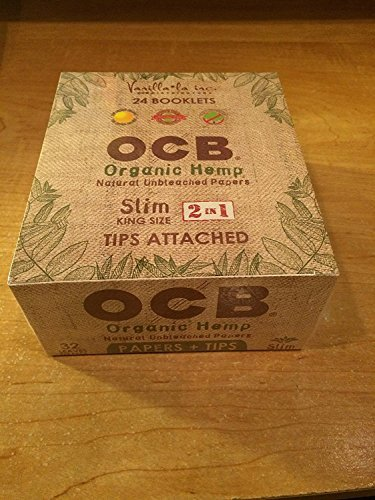 - OCB Organic Hemp Unbleached Papers Slim King Size with Tips Unflavored Flavor Pack of 24