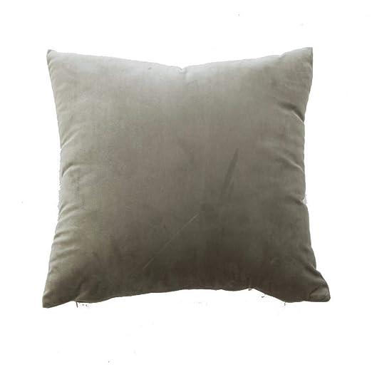 Aiserkly - Funda de cojín Cuadrada de Terciopelo para sofá, decoración del hogar, 45 x 45 cm, poliéster, f, 45cmx 45cm/18