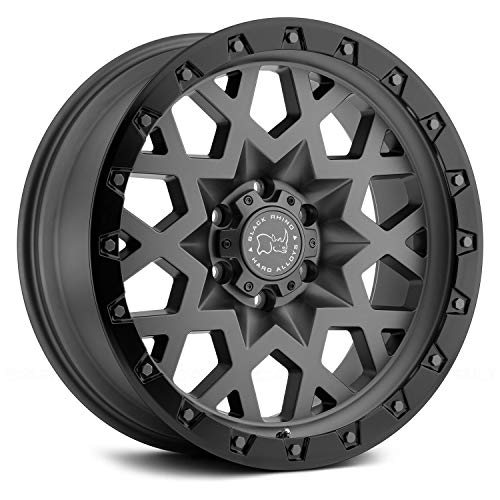 Black Rhino Sprocket Custom Wheel - Matte Gunmetal with Black Lip Edge 18