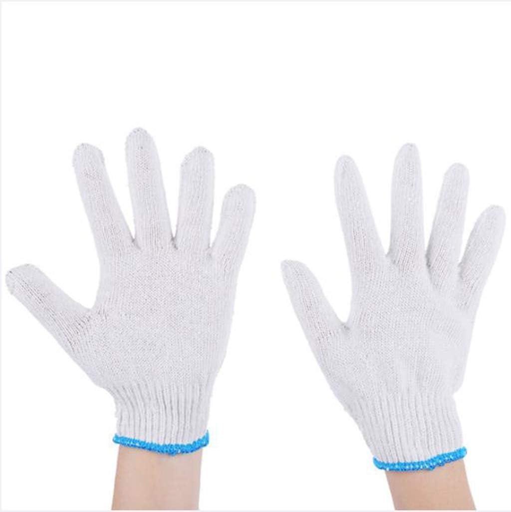 Guantes de algodón con Hilo Protector de Trabajo de algodón Blanco Resistente al Desgaste, protección Antideslizante de algodón (5 Pares): Amazon.es: Deportes y aire libre