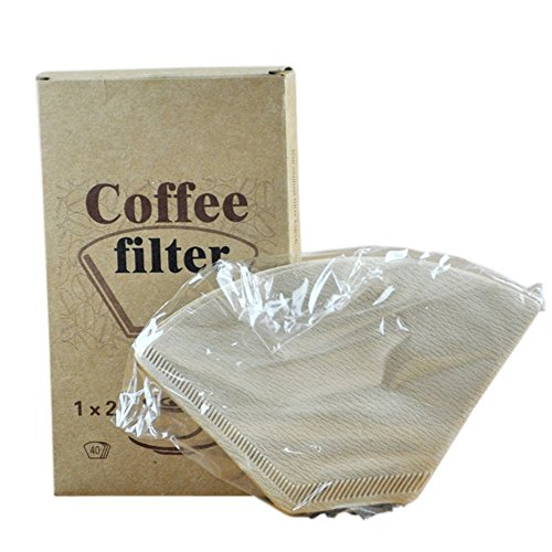 Natural Paper Coffee Filter 102 Coffee Filter 40 Count Dispo