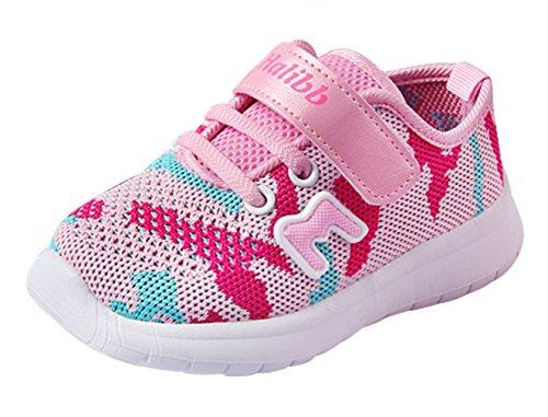 Eozy Kinderschuhe Jungen Mädchen Klettverschluss Sportschuhe Sommer Turnschuhe Sneaker Schuhe Pink