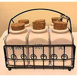 Kitchen Rae Dunn by Magenta 6 Jar Spice Rack (Spice Rack) spice racks