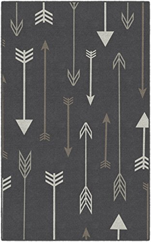 Brumlow Mills EW10233-40x60 Bohemian Arrows Gray Area Rug, 3'4