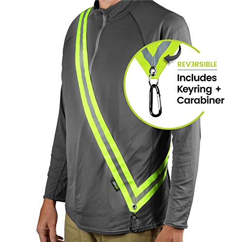 (MOONSASH XL - Patented Reflective Night Safety Gear > Commuters, Dog Walking, Scooters, Bikers > Get Noticed! > Reversible, Comfortable, Practical, Stylish Sash-Band)