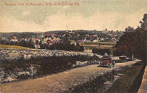 Birds Eye View From Colonial Hill Monticello, New York, Postcard ()