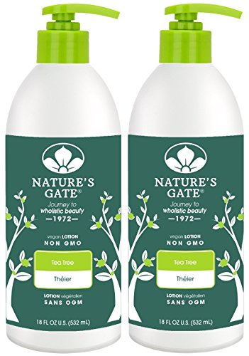 Nature's Gate Tea Tree Calming Body Lotion - 18 oz - 2 pk