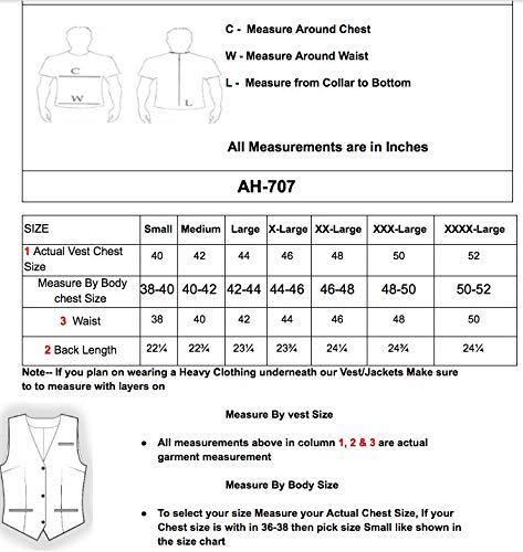 Amazon.com: A&H Apparel - Chaleco de piel de vacuno para ...