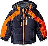 London Fog Boys' Big Active Puffer Jacket Winter Coat, Real Navy, 10/12