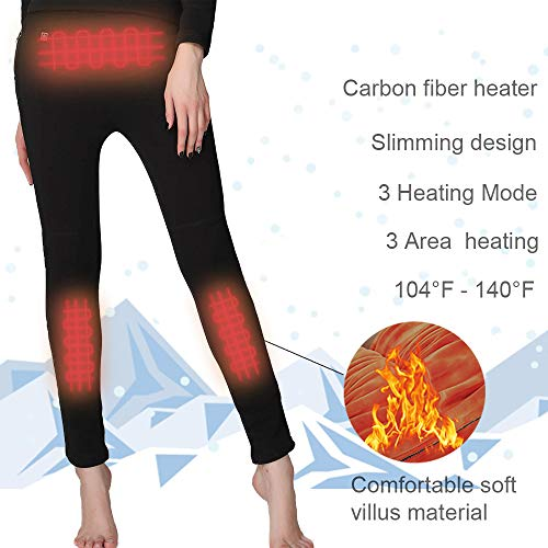 ectric Warm Heated Thermal Pant Carbon Fiber Heating Trousers S/M ()
