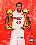 Udonis Haslem Miami Heat NBA Championship Trophies 8x10 Photo