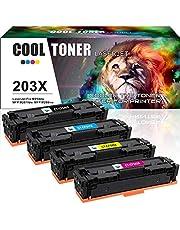 Cool Toner 4 Pack Compatible for HP 203X CF540X CF541X-CF543X HP 203 203A CF540A Toner Cartridge for HP Color LaserJet Pro MFP M281fdw M281fdn M254dw M254nw M254dn M280nw