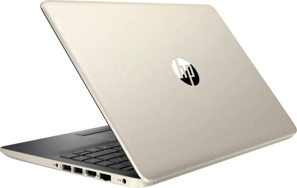 "Newest HP Thin and Lightweight 14"" HD Laptop, Intel Dual Core i3-7100U 2.4GHz Processor, 12GB RAM, 256GB SSD, WiFi, HDMI, USB-C, Webcam, Windows 10, Gold"