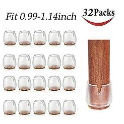 32 Pack Chair Leg Caps Silicone Feet Tab...