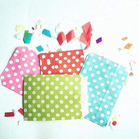 ca4c3fecc 25 bolsas de papel para caramelos con lunares impresos para tartas, bodas,  fiestas, suministros (azul claro): Amazon.es: Hogar