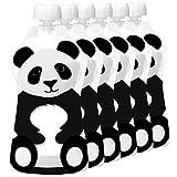 Squooshi Reusable Food Pouch | Panda 6 Pack
