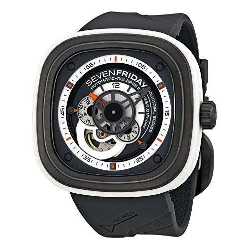 SEVENFRIDAY Men's P3-3 Bully Analog Display Japanese Automatic Grey Watch