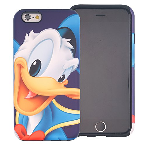 iPhone 7 PLUS Case [Heavy Drop Protection] DISNEY Cute Donald Duck Layered Hybrid [TPU + PC] Bumper Cover [Shock Absorption] for Apple iPhone7 Plus - Donald Duck Smile - Donald Duck Cell Phone Case