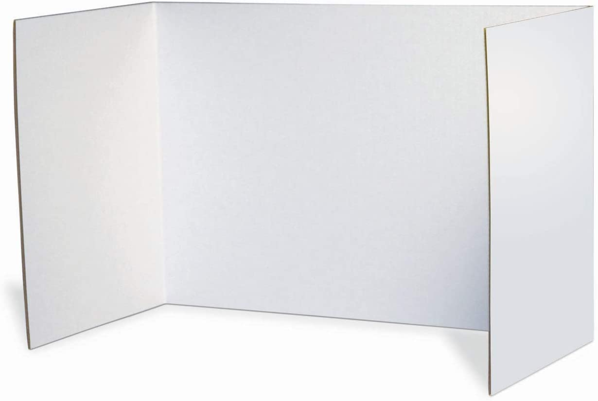 "Pacon Privacy Boards, White, 48"" x 16"", 4 Boards (3782)"