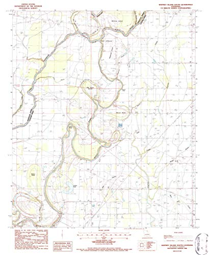 YellowMaps Whitney Island South LA topo map, 1:24000 Scale, 7.5 X 7.5 Minute, Historical, 1986, Updated 1987, 26.8 x 22 in - Paper