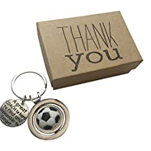 Soccer Coach Appreciation Keepsake Key Chain with Gift Packaging for your Coach