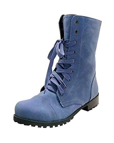 550518c3623 Tomwell Womens Ladies Army Combat Lace Up Zip Grunge Military Biker Trench Punk  Goth Ankle Boots