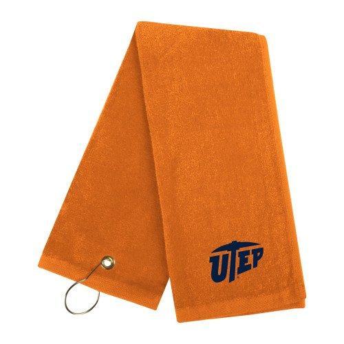 UTEP Orange Golf Towel 'Primary University Mark' by CollegeFanGear