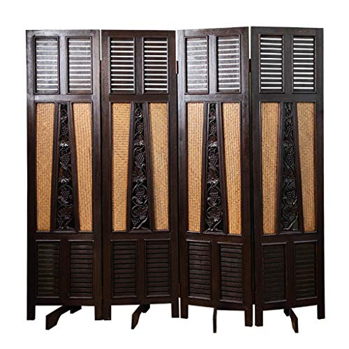 Even Oriental Traditional Furniture,Unique Rattan and Openwork Design,Folding,Wall Divider,Privacy Screen Room Divider (Room High End Dividers)