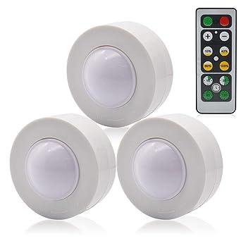 GreeSuit - Luces debajo del gabinete, Control remoto inalámbrico de luces LED de puck,