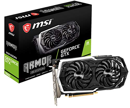 MSI GeForce GTX 1660 DirectX 12 6GB 192-Bit GDDR5 PCI Express 3.0 x16 HDCP Ready Video Card Model GTX 1660 Armor 6G OC