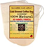 Reusable Cold Brew Coffee Filter by P&F(2 Pack) - FULL TASTE - NO HARMFUL CHEMICAL IN YOUR DRIP COFFEE ANYMORE - Filter Bags for Cold Brewed Iced Coffee - Fits with 64oz Ball Mason Jar1-2 Litre