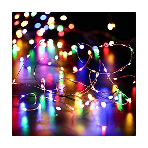 Qedertek Luci Natale Esterno Solare, Luci Natalizie 24M 240 LED, Lampadina Natale con Luci Colorate, Stringa Luci Solare Impermeabile, Luci Addobbi Natalizi per Albero di Natale (colore) 7 spesavip
