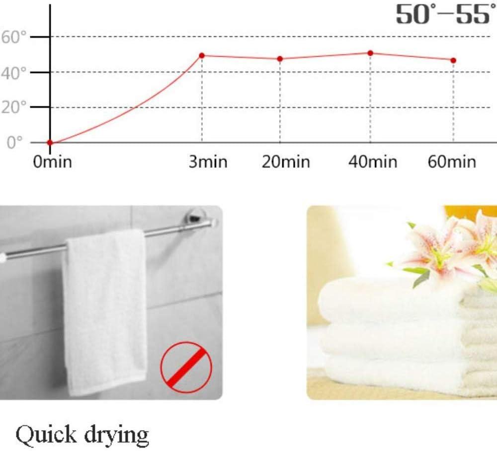 YUXIANG Handtuchw/ärmer Badheizk/örper Vierkantst/äbe Edelstahl Handtuchhalter f/ür Badezimmer 900 /× 650mm,Hardwired
