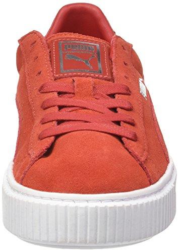 Platform Scarpe puma Rosso Cherry White Ginnastica barbados Suede da Cherry Donna Puma Barbados Basse 5HcZwaUWq