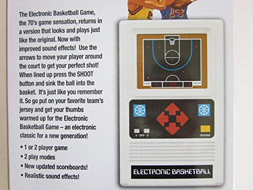Big Game Toys~Electronic Basketball 1970's Retro Mattel Remake of Classic  Handheld Video Game