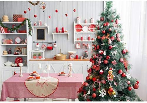 YongFoto 1,5x1m Fotografía Fondo Árbol de Navidad Regalo Mesa del Comedor Cocina Bola navideña Vela Cortina Navidad Foto Antecedentes Parte Adultos Retrato Foto Accesorios: Amazon.es: Electrónica